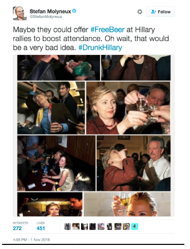 Collection of photos of drinking Hillary Clinton